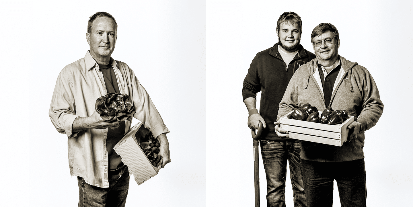 Lettuce and Pepper Grower Portraits